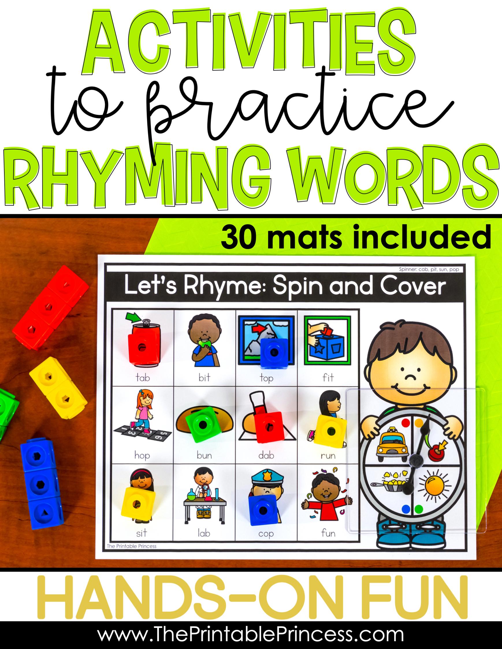Rhyming Activities Bundle Rhyming Activities Rhyming Words Activities Activities [ 2249 x 1738 Pixel ]