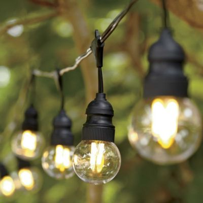 Clear led filament string lights globefancy led version 7999 a amazon solar led outdoor globe string lights 48 m 20 led crystal ball fairy lights for patio gardens ouside wall hotel homes wedding aloadofball Images
