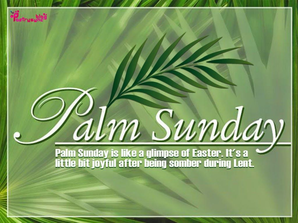 Palm Sunday Quotes and Sayings with Images Palm sunday