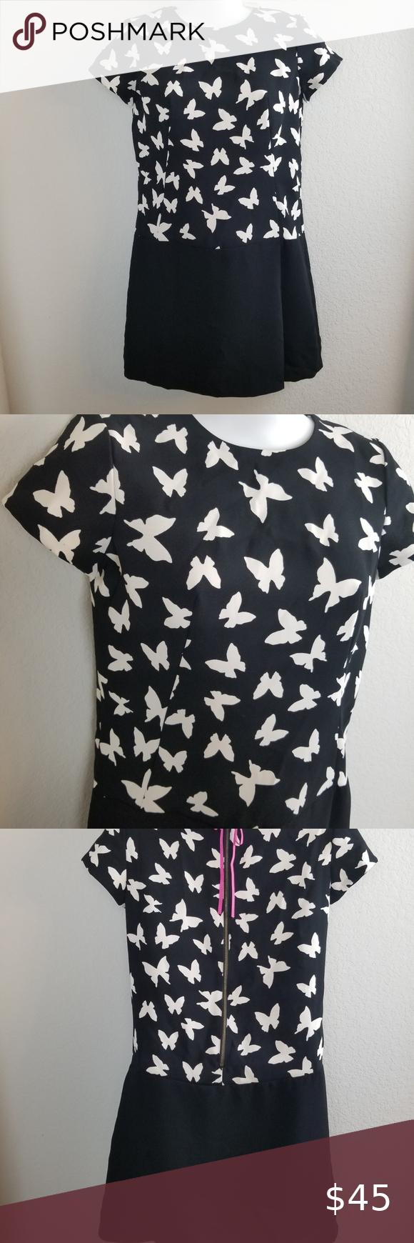 Loft Shift Dress With Butterflies Size Op Shift Dress Clothes Design Dresses [ 1740 x 580 Pixel ]