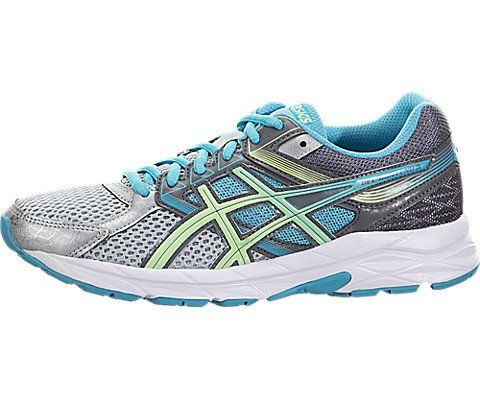 ASICS Women's Gel-contend 3 Running Shoe, Silver/Pistachio/Teal, 6.5