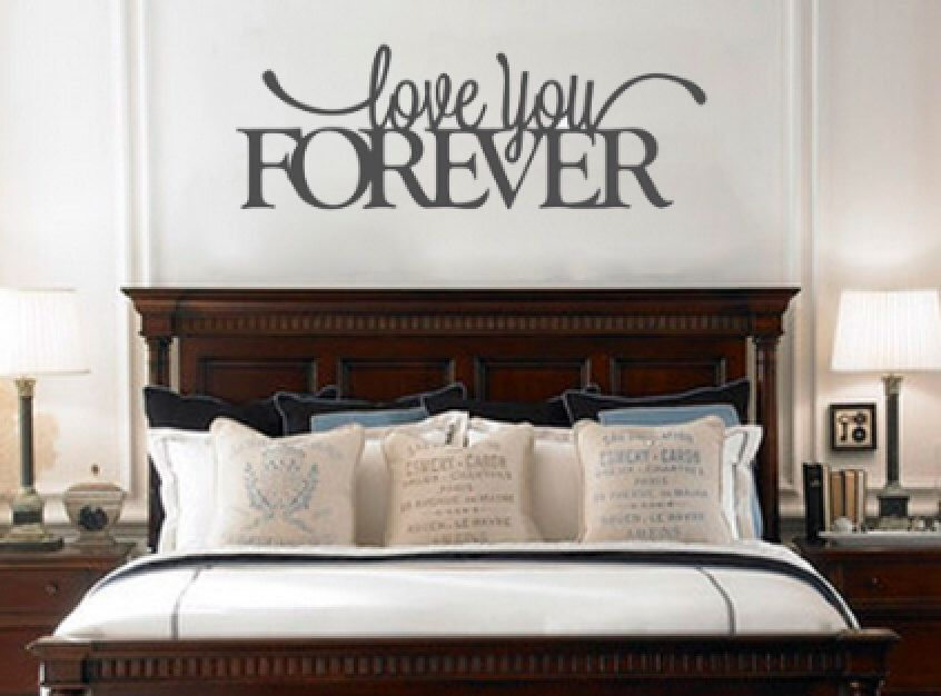 Love You Forever Removable Vinyl Wall Art Quotes Decal Sticker That Is Perfect For Above The