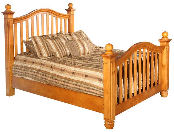Warm Pine Queen Size Bed, Afw Queen Bed Frame
