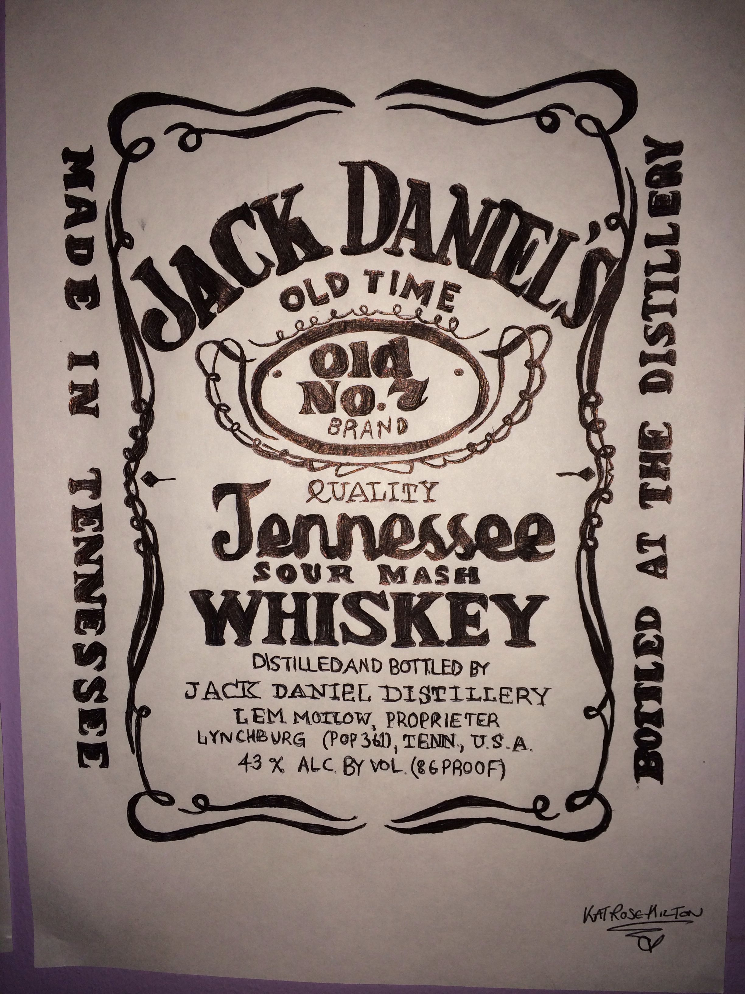 Tell us about yourselfJack Daniels Honey Whiskey Label