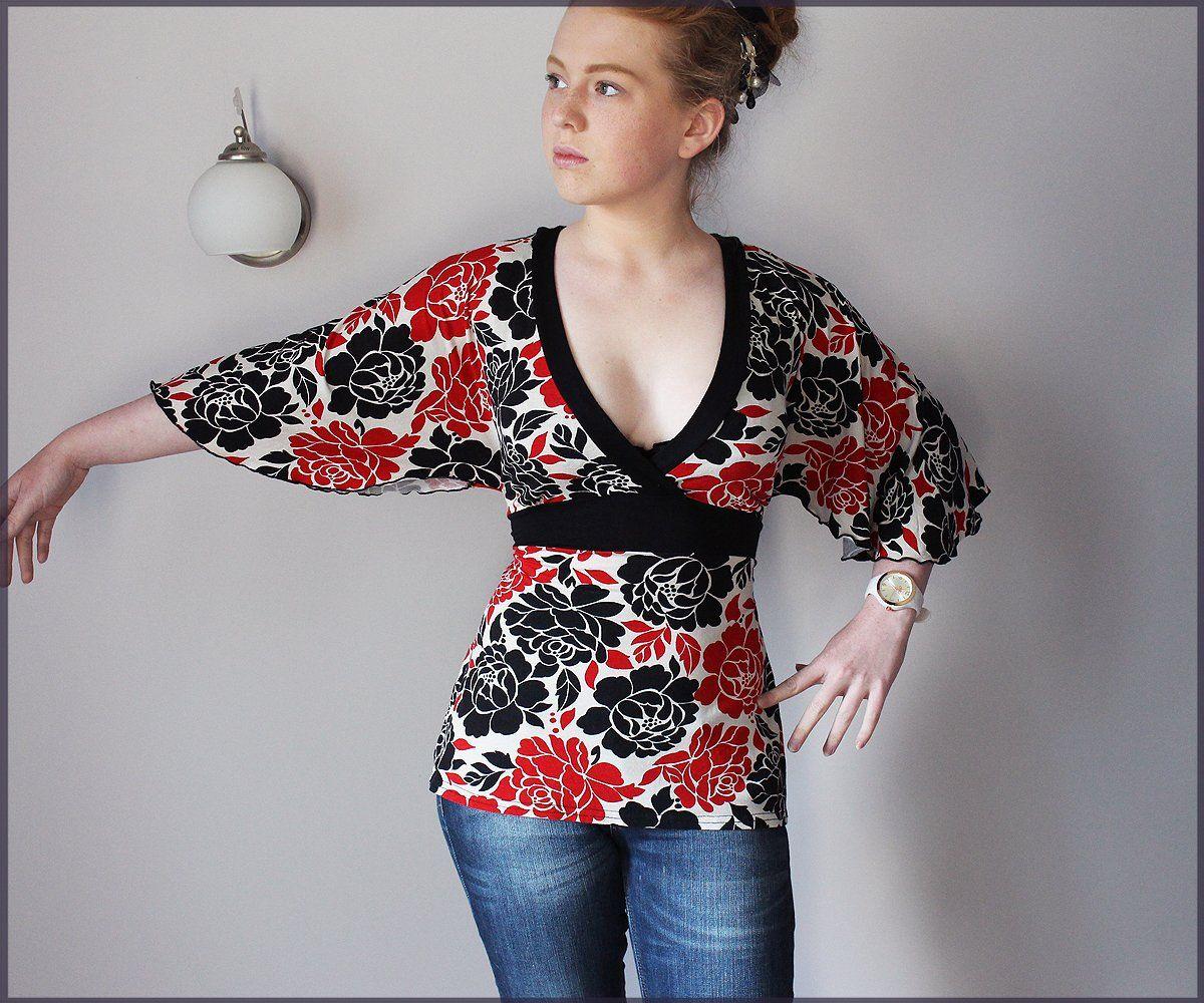 Evie Bluzka Moty Kimono Wiazana 42 44 46 7015982255 Oficjalne Archiwum Allegro Fashion Moda Boho Hippie Boho