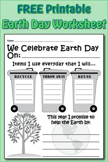Earth Day Writing Activity Printable Earth Day Worksheets Earth Day Activities Writing Activities Earth day worksheets for esl students