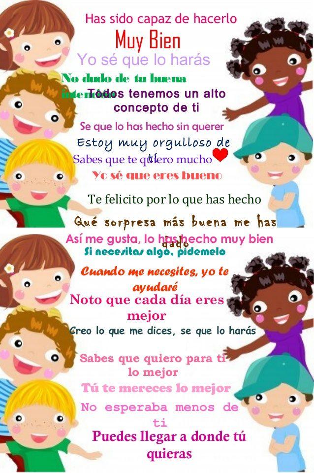 Frases de motivación para niños | arte en preescolar | Pinterest ...