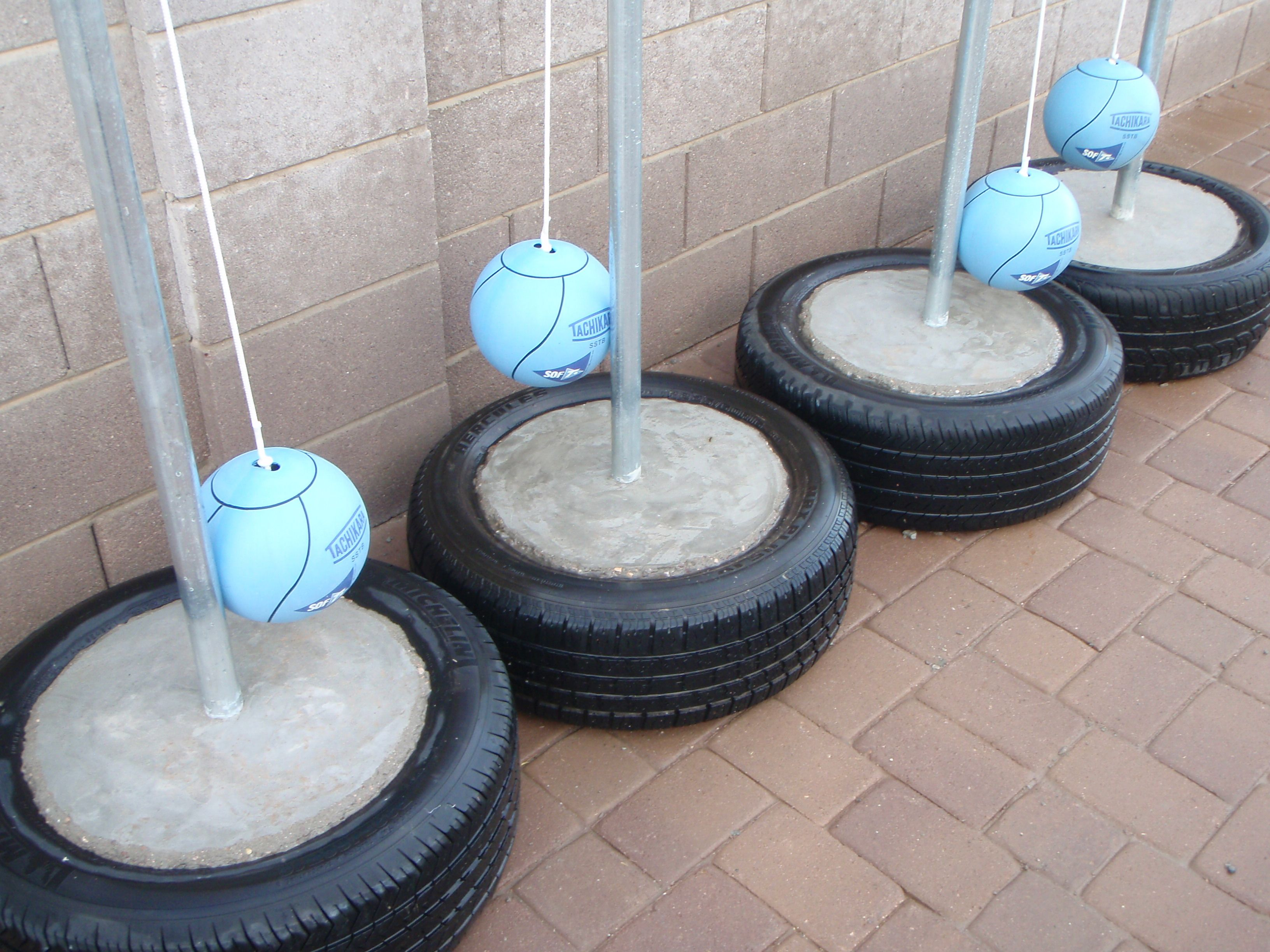 Instructional Video On How To Learn To Make A Portable Concrete Base Tire Tetherball Set That Is Made Out Of Cement And An Ol Tyres Recycle Tetherball Concrete