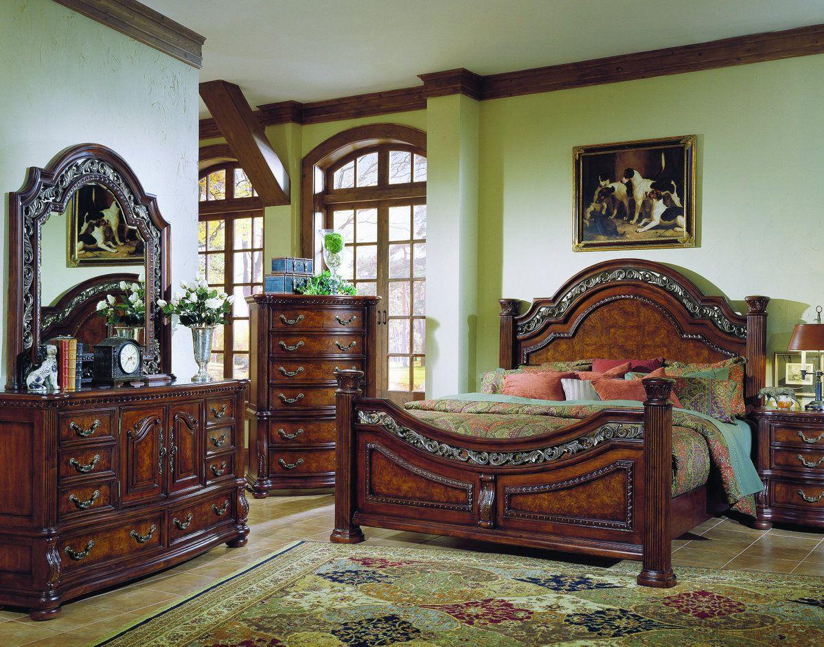 Samuel Lawrence Furniture San Marino Panel Bedroom Set in Sanibel ...