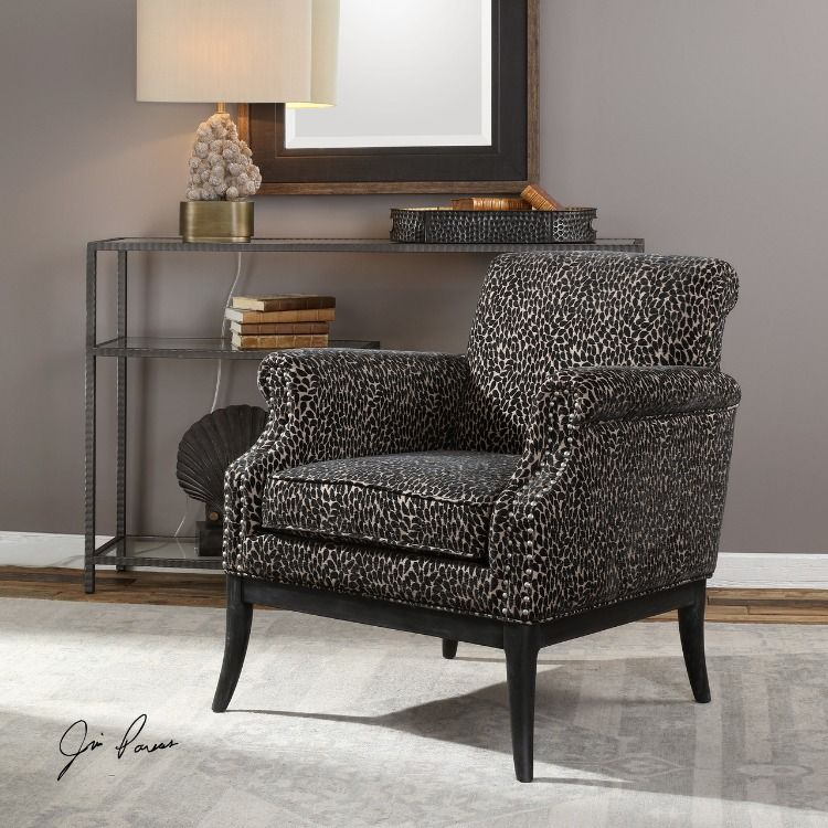 black bedroom accent chair