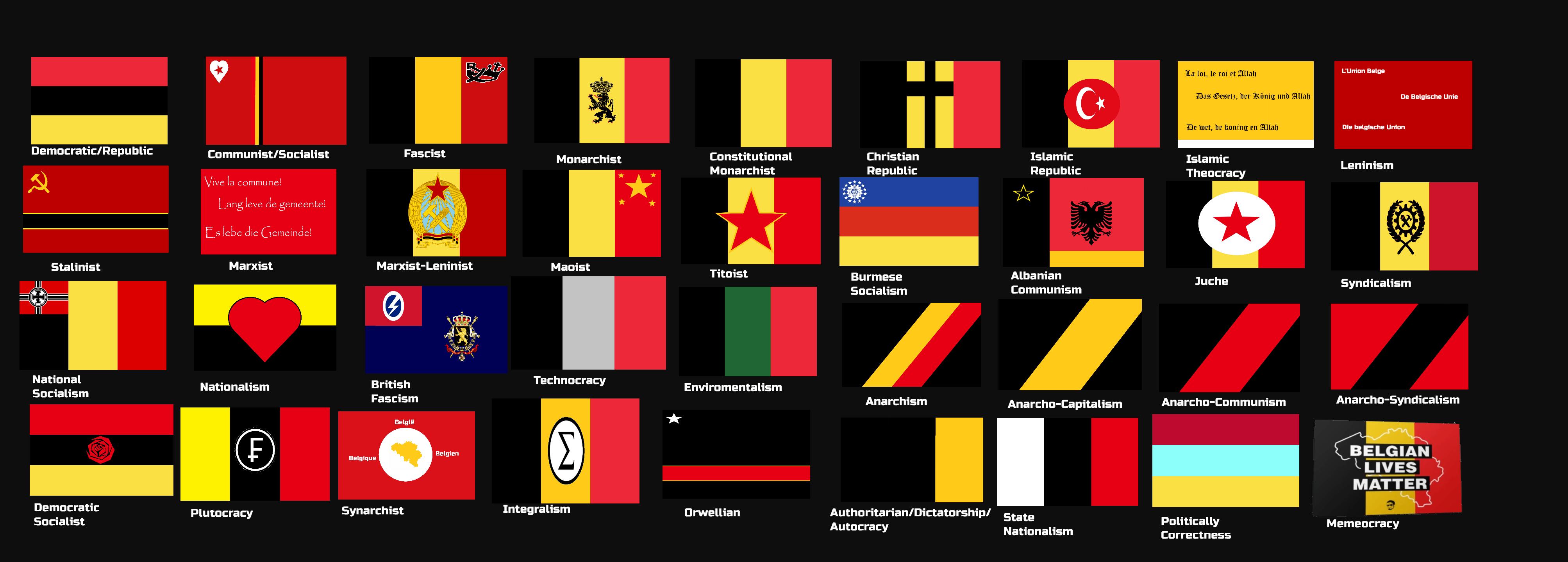 Ideology Flags Belgium By Aberdanne On Deviantart Japanese Belgium Alternative