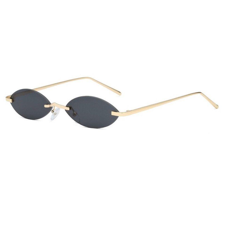 d95eace650b Black Premium Rimless Oval Sunglasses   - - Depop