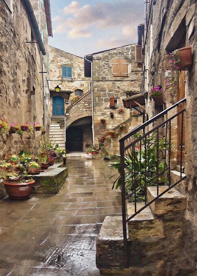 Tarquinian Courtyard Digital Art