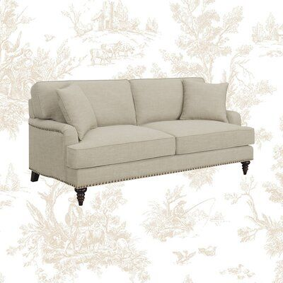 "Kelly Clarkson Home 79"" Round Arm Sofa Fabric: Medium Beige"