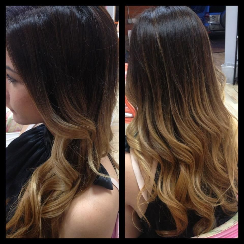 Brunette Ombre Vs Balayage Ombre Or Balayage Balayage Hair Brunette Long Balayage
