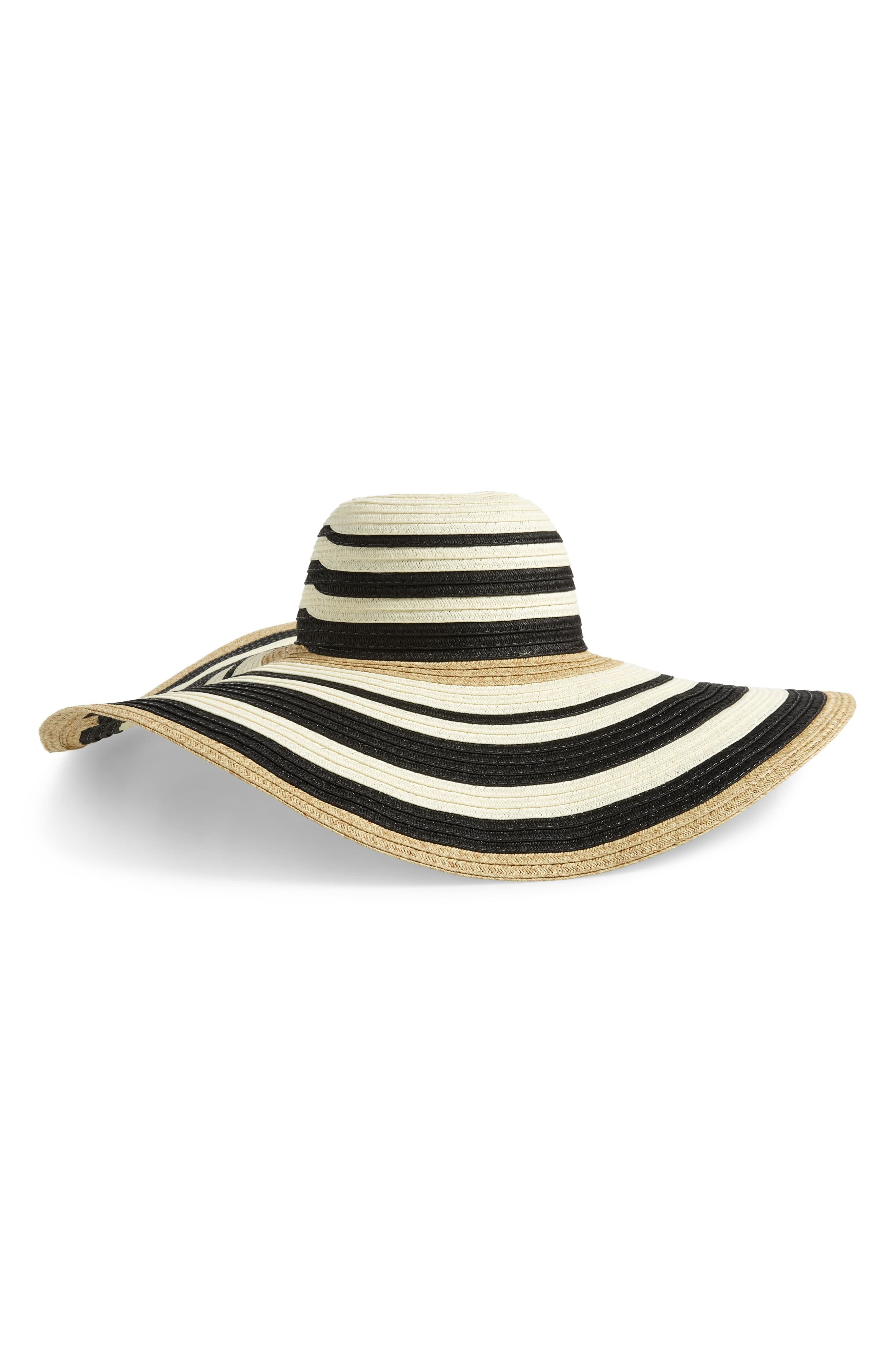 a9b8903d98 Women's Nordstrom Modern Stripe Floppy Hat - Black in 2019 ...