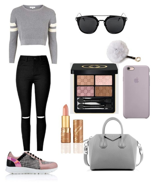 """""""Running errands!"""" by chiclifewstyle ❤ liked on Polyvore featuring Topshop, Karl Lagerfeld, Givenchy, Gucci, tarte and Adrienne Landau"""