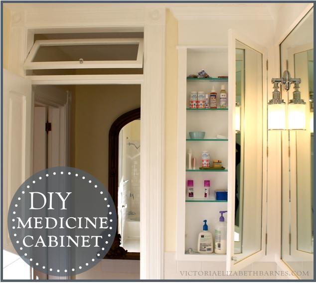 DIY Bath Remodel DIY Medicine Cabinet Medicine Cabinets - Recessed built in bathroom mirror cabinet for bathroom decor ideas