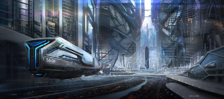 concept ships: Spaceship art by Juan Pablo Roldan