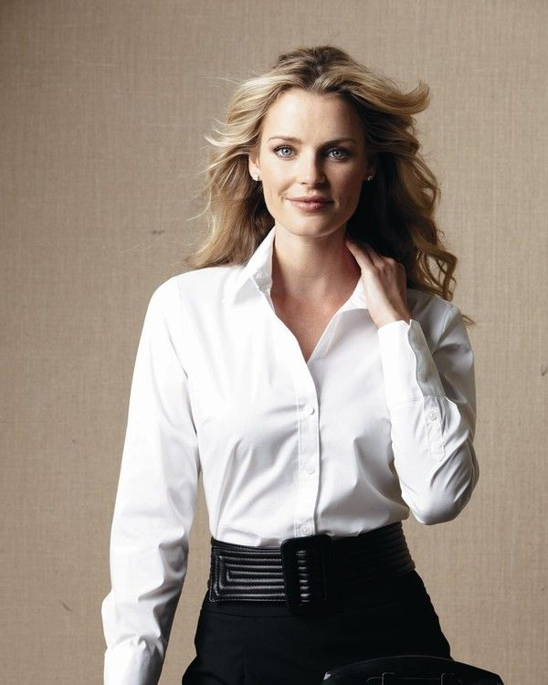 Calvin Klein Ladies' Cotton Stretch Shirt...Don't sacrifice style just because you mean business...