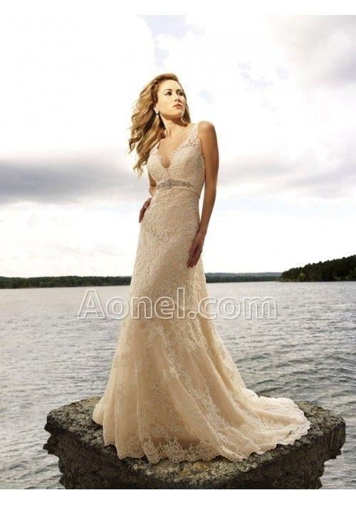 Champagne Colored Wedding Dresses (Source: assets4.pinimg.com ...