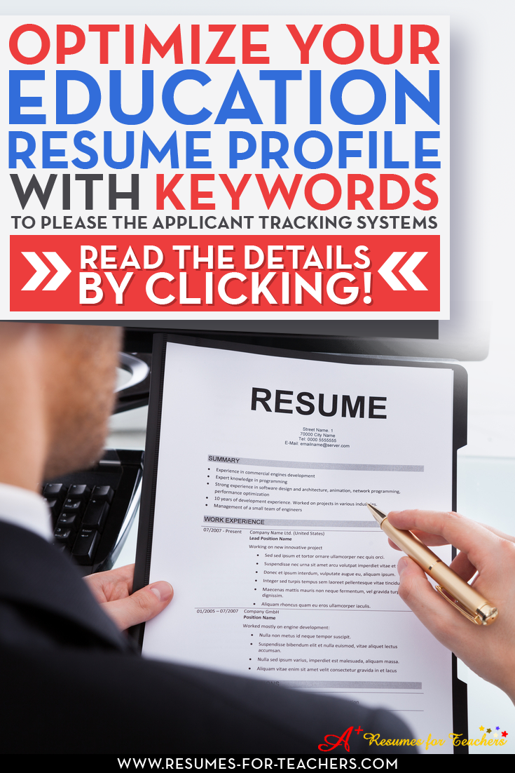 resume keywords to include when writing an education cv or