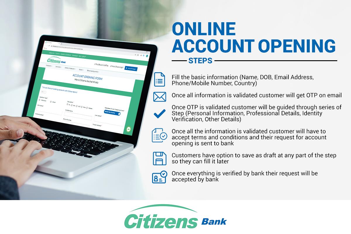 Procedures Of Online Account Opening Citizensbank In 2020 Online Accounting Accounting Online