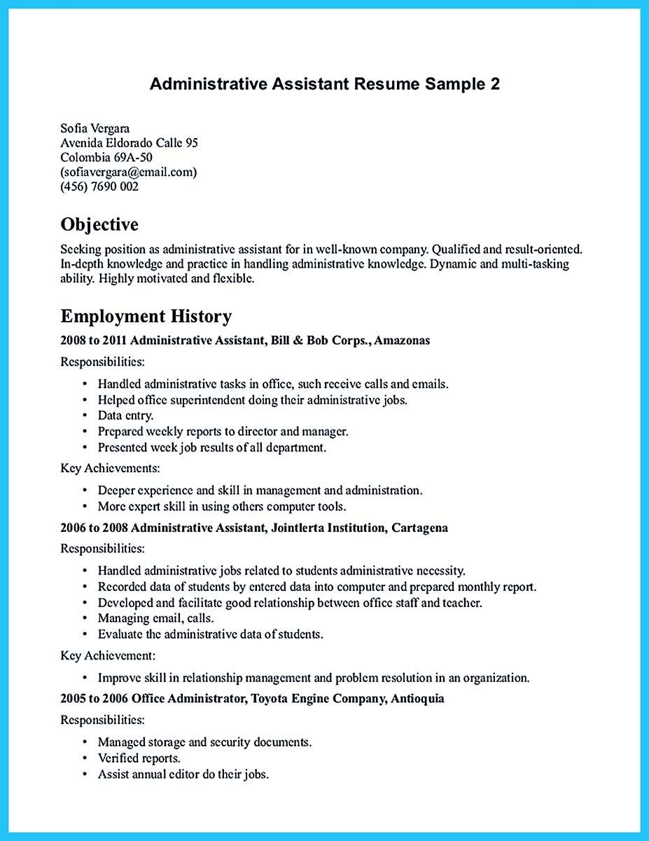 A Job Resume Sample Classy Cool Professional Administrative Resume Sample To Make You Get The .