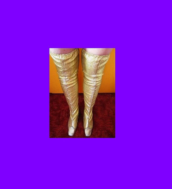 RARE Vintage over the knee thigh high by AllThatGlittersIsOld