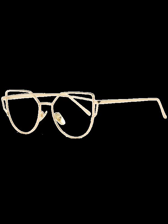 fb7aaab0d013d Comprar Óculos com Armação Dourada Transparente  Somente R 28.46 e frete  grátis!  óculosfeminino  tumblr