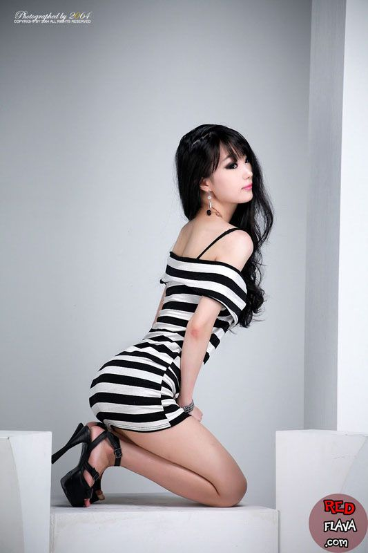 Image result for Hot girl black and white stripe