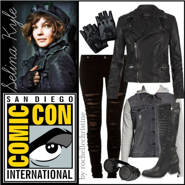 Selina Kyle :: Gotham by rochellechristine on Polyvore featuring Saks Fifth Avenue, AllSaints, Carlos by Carlos Santana and Tripp