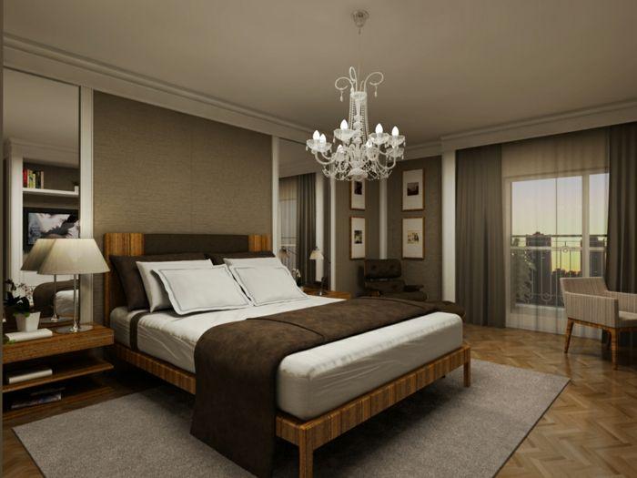 Schlafzimmer Wandgestaltung ~ Farbgestaltung schlafzimmer wandgestaltung wanddesign samt braun