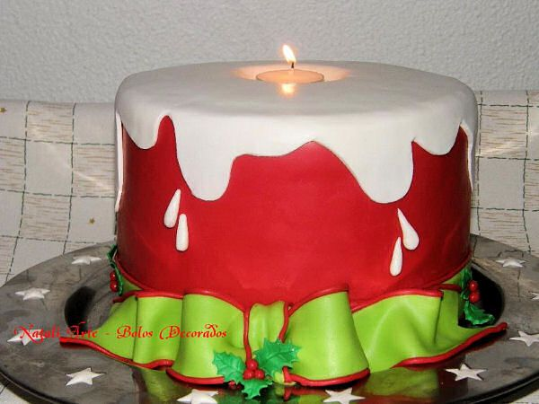 Could be a cute Christmas cake with snowflakes