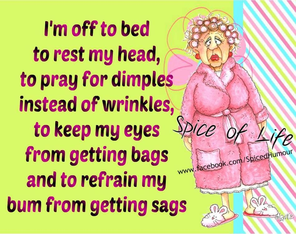 I Am Off To Bed Funny