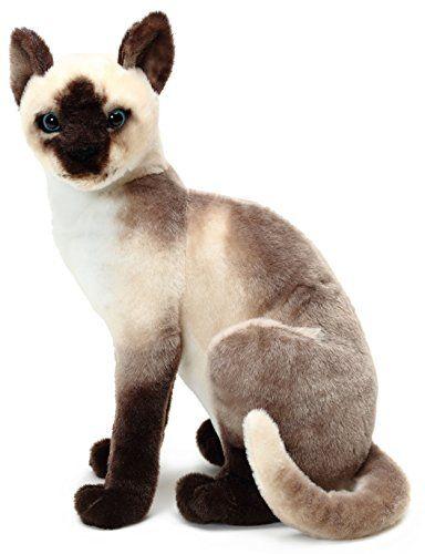 VIAHART Stefan The Siamese Cat 14 Inch Stuffed Animal P