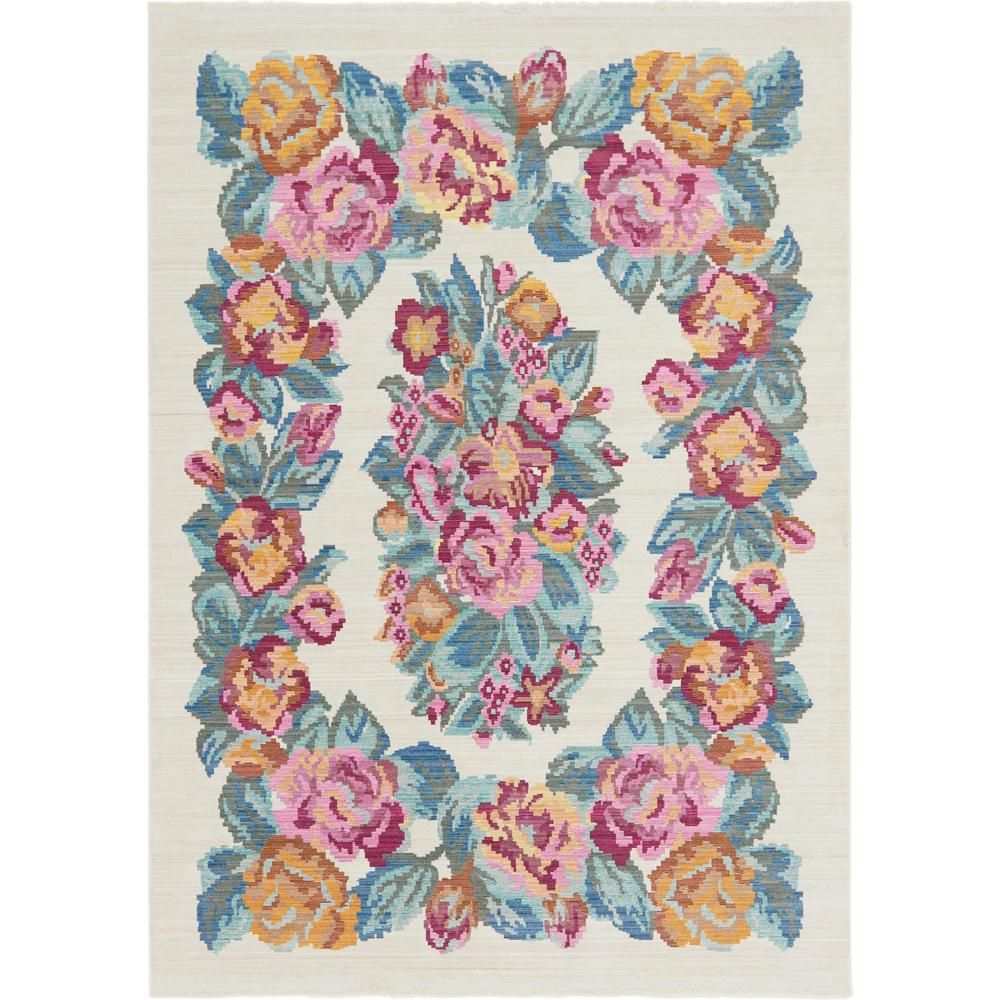 Stockholm Cream (Ivory) 6 ft. 8 in. x 9 ft. 4 in. Area Rug