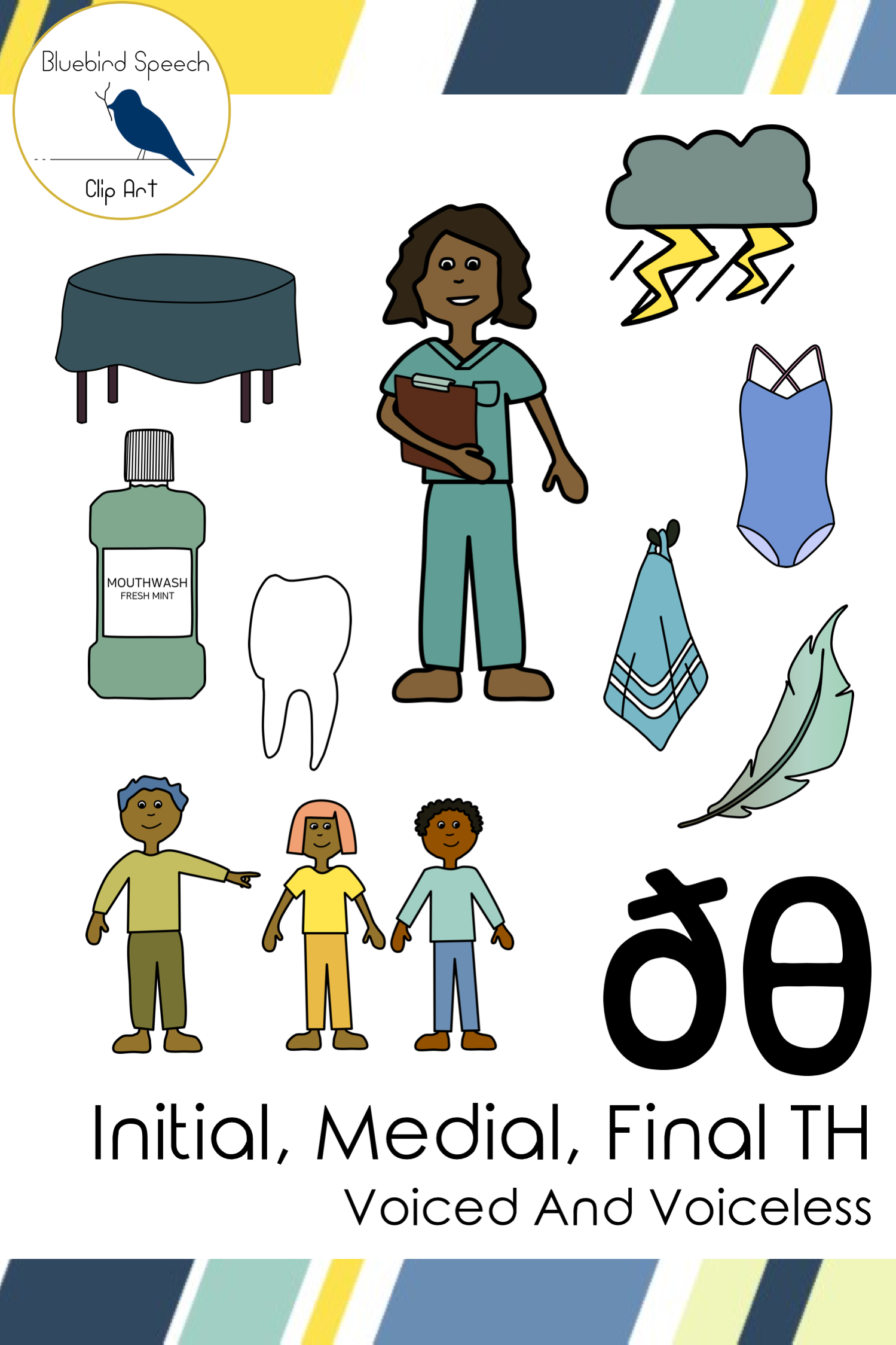 Th Clip Art Word Set Voiced And Voiceless Th Sounds For