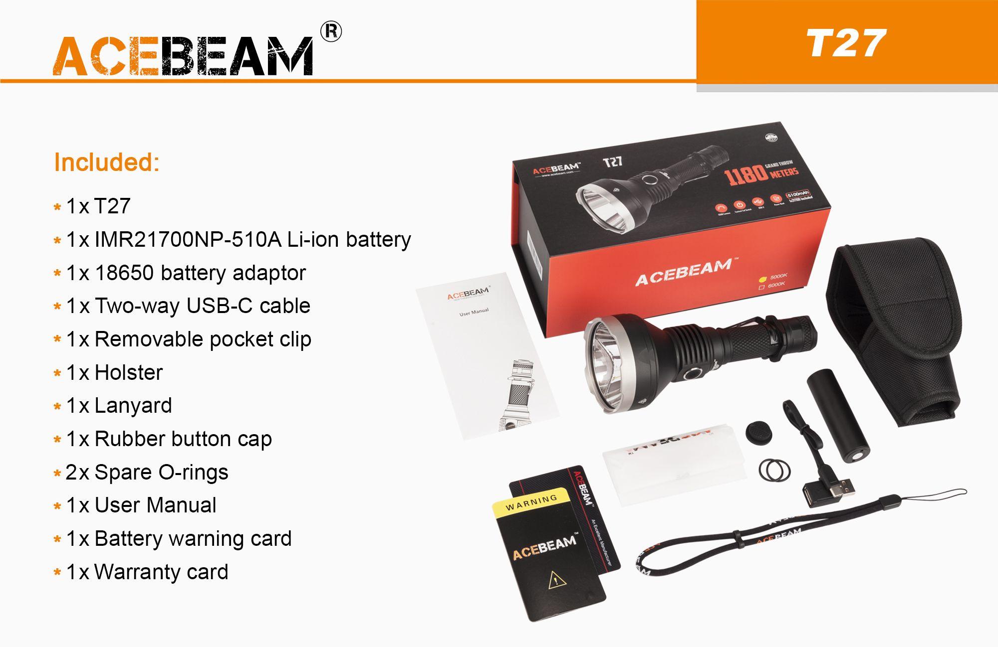T27 Circuit Board Design Tactical Flashlight 18650 Battery