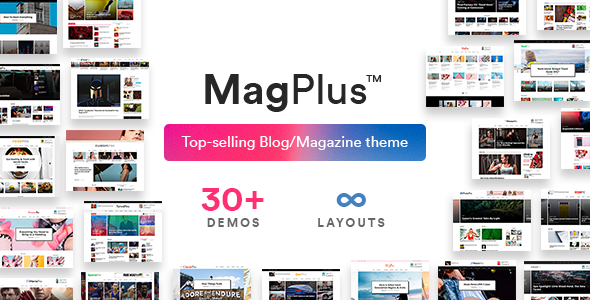 Magplus Is A Blog Magazine Newspaper Wordpress Theme Which Gives