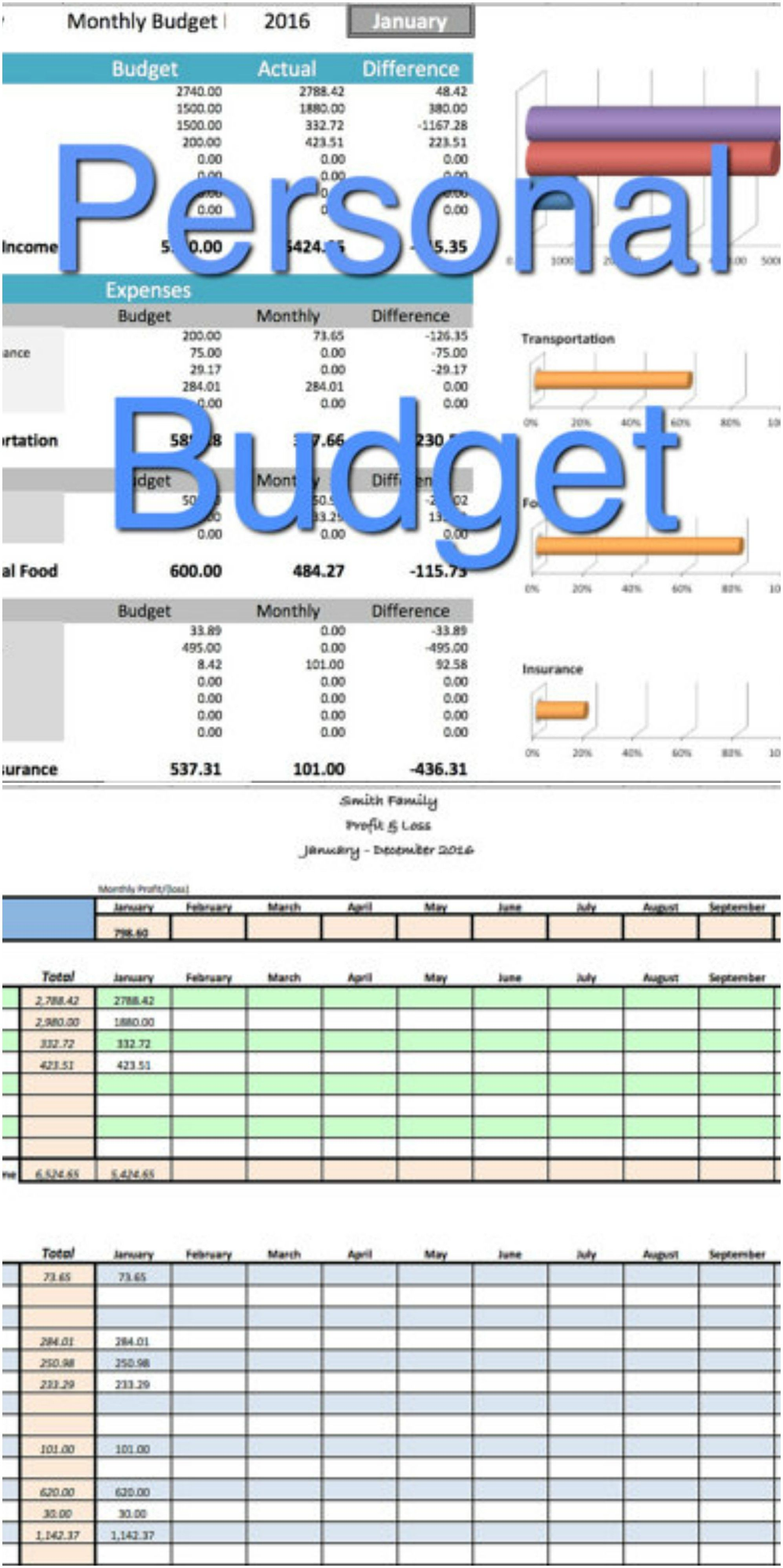 Personal Household Budget Family Income Expense Tracker User
