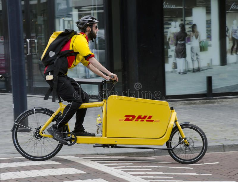 Dhl Delivery Bike Dhl Bicycle Delivery Vechicle Moves Through The Streets Of Ro Ad Bike Bicycle Dhl Delivery Bike Cute Designs To Draw Bicycle Bike
