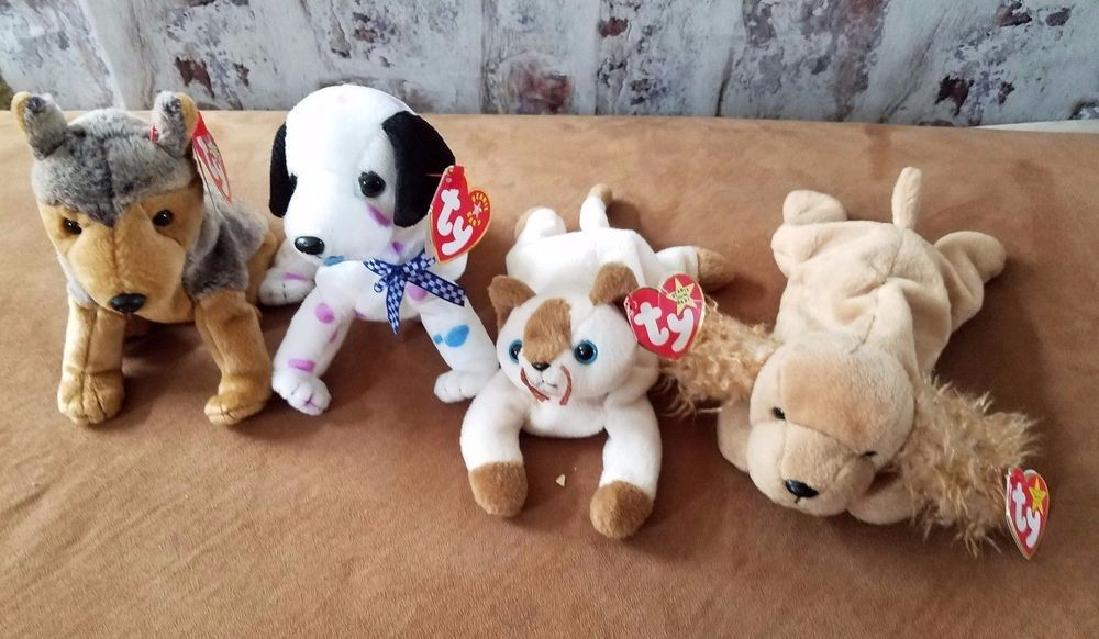 105d6bbe32e Ty Beanie Babies lot of 4 Dogs and cat with tags  Ty  Beanie