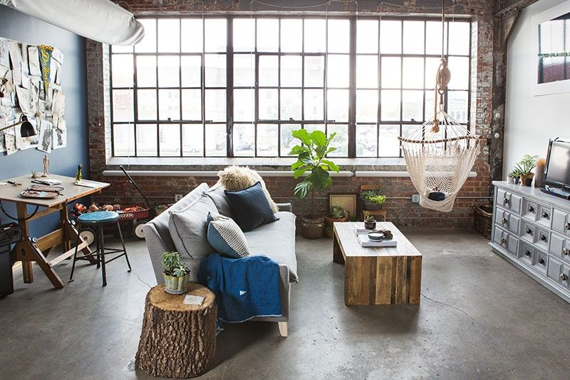 Industrial Studio Apartment chelsey cobbs' oklahoma city studio apartment tour #theeverygirl
