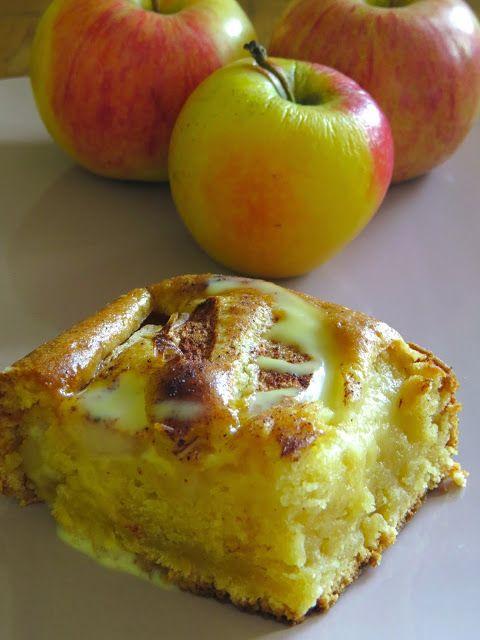 Pastel casero de manzana