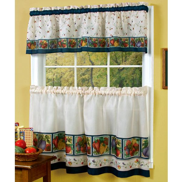 Vegetable Themed Kitchen Curtains Veggies Kitchen Curtain Set Cute Curtains Kitchen Curtains Country Kitchen Curtains Kitchen Curtain Designs