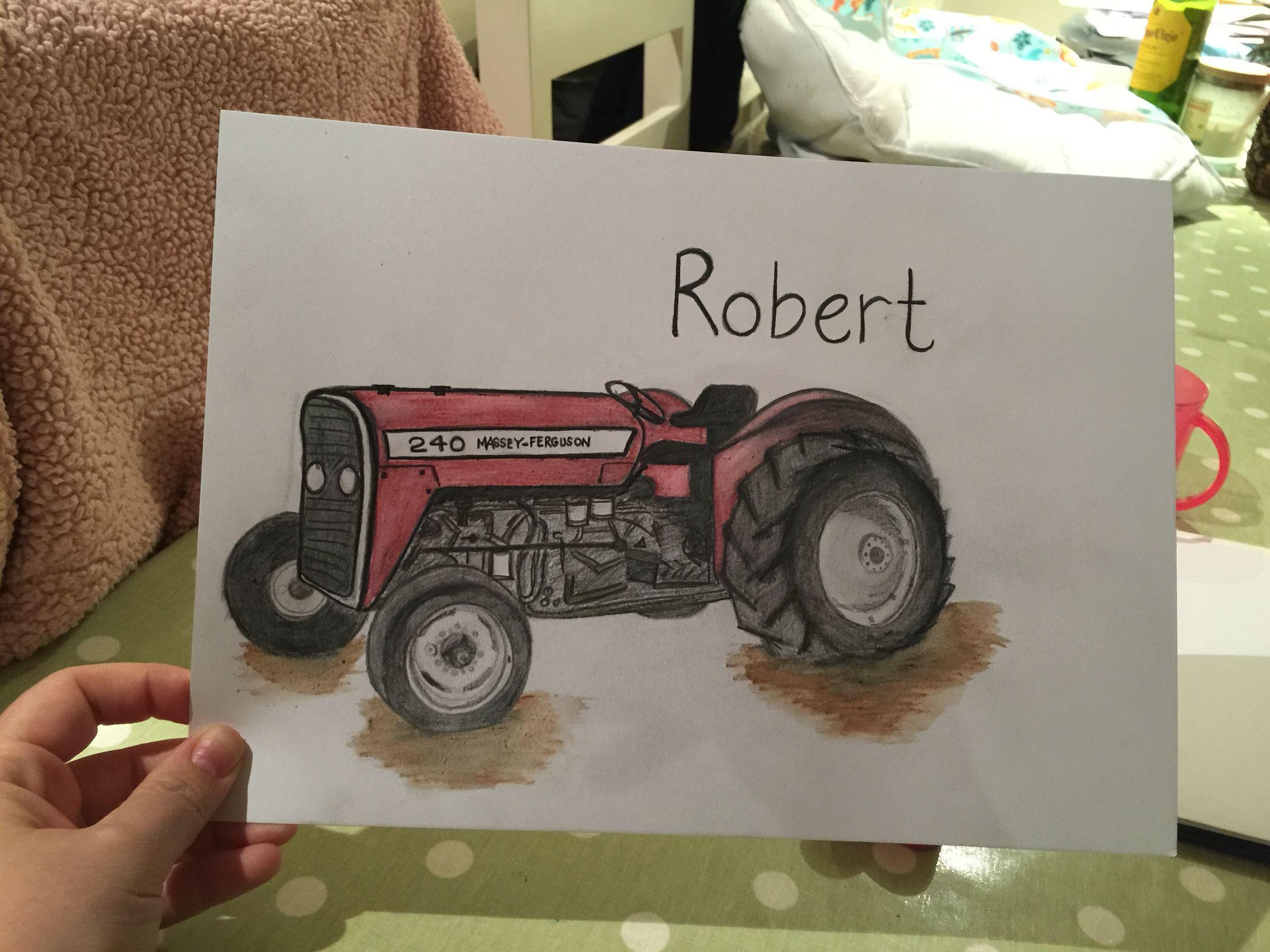 Freehand drawing of old Massey Ferguson | Traktor | Pinterest