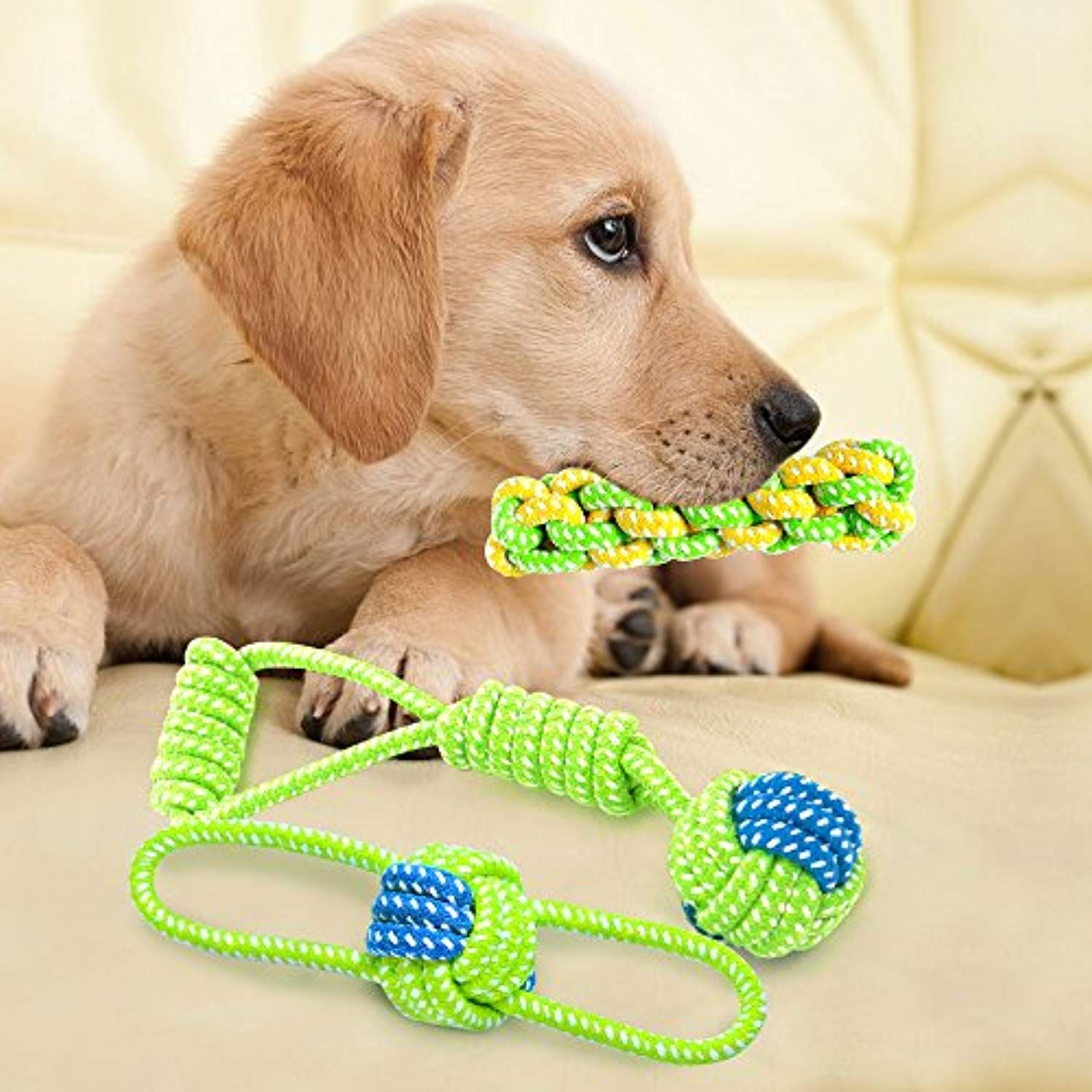 Dog Chew Toy Teething Durable Rope Toys Puppy Teeth Clean Dental