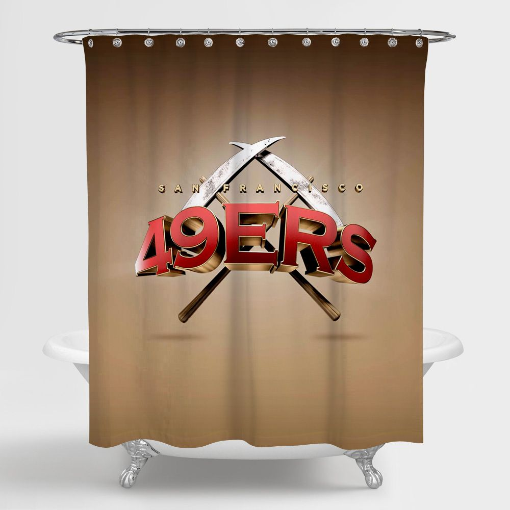 San Francisco 49ers Shower Curtain 100 Polyester With Images