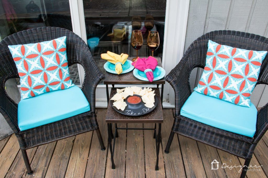 Small Porch Ideas + Reveal #smallporchdecorating